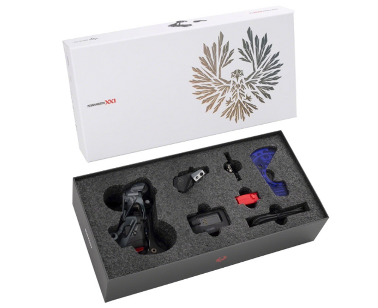 SRAM XX1 Eagle AXS Upgrade Kit - Rear Derailleur, Battery, Eagle AXS Controller w/ Clamp, Charger/Cord