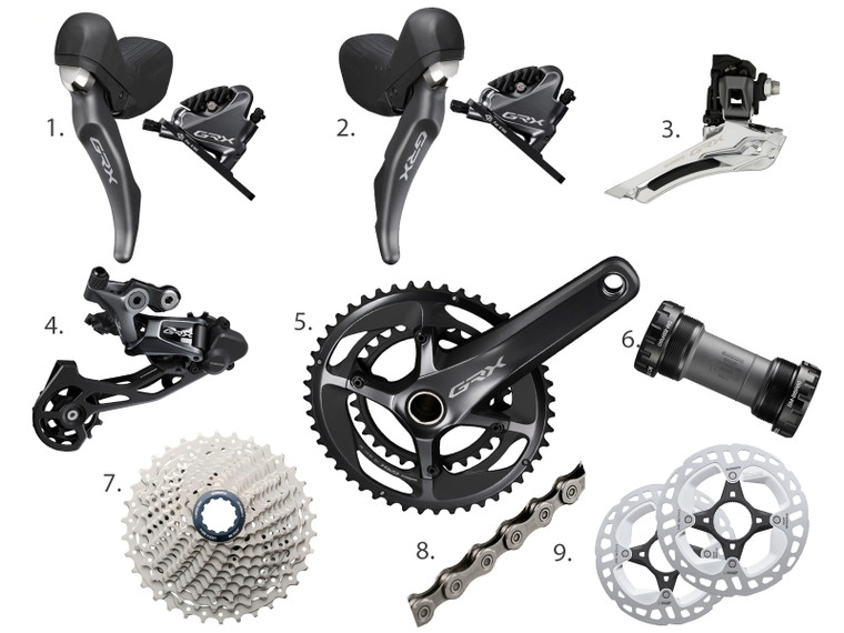 Shimano GRX RX810 2 x Mechanical Groupset