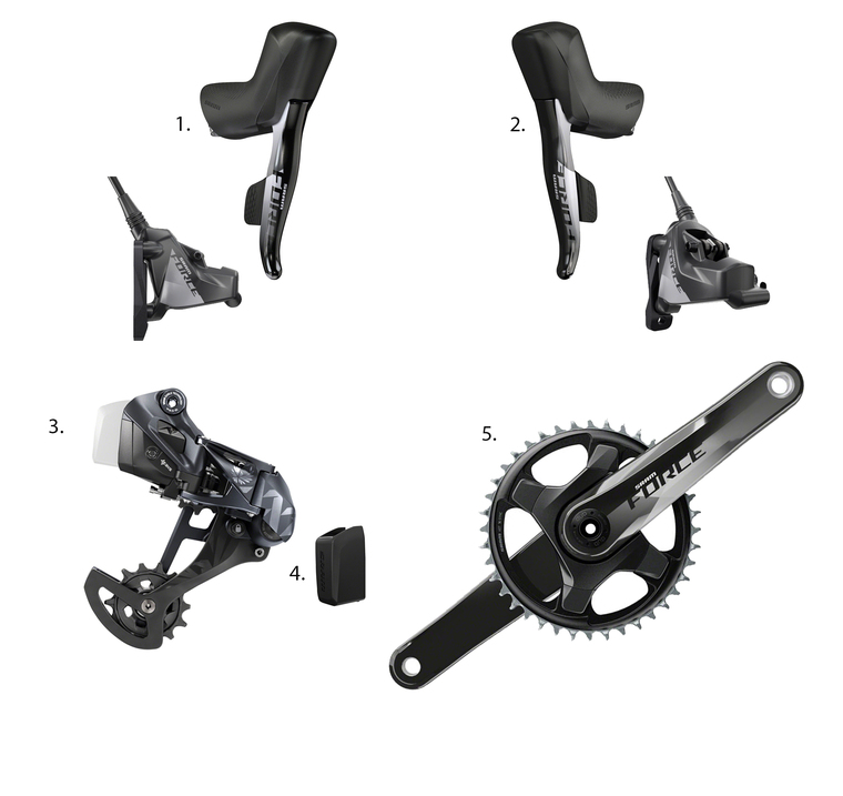SRAM Force eTap AXS XX1 1x12 Gravel Groupset