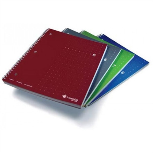 ANA-00018 -  Single Subject Notebook (large), 4-Pack, Numbers 5 through 8