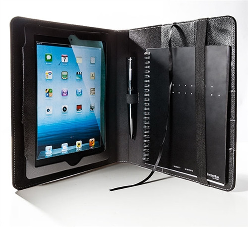 SPC Small Leather Portfolio For a Full-Size iPad or Tablet