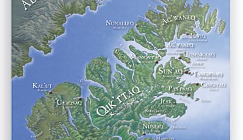 Kodiak Map Poster