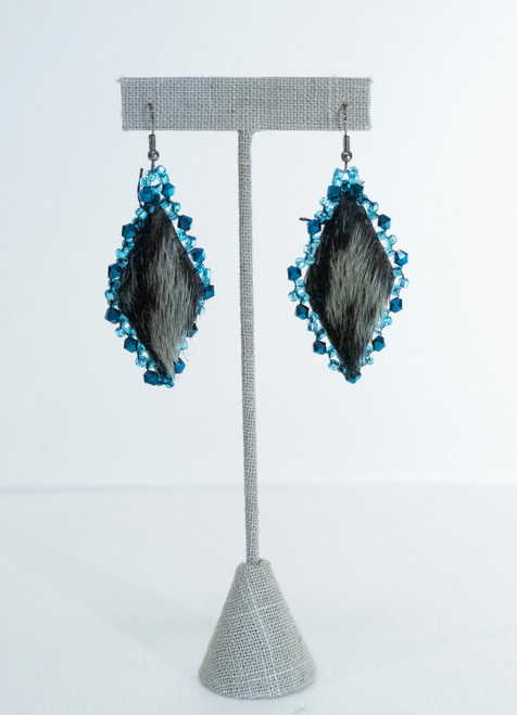 Blue Seal Fur Earring
