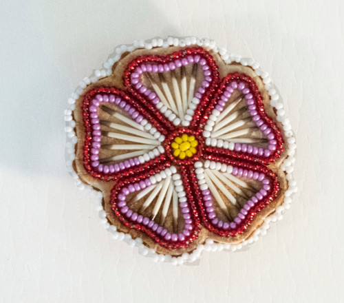 Beaded Quill Barrette