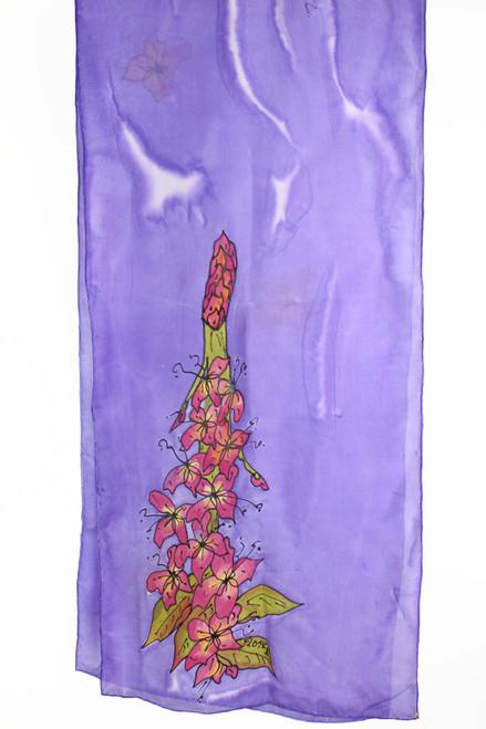 Scarf - Purple Floral