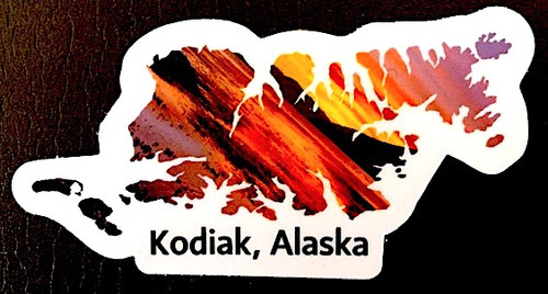 Kodiak Sunset Sticker