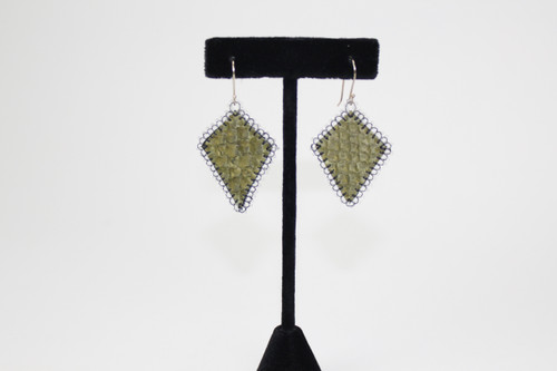 Diamond Shaped Fishskin Earrings