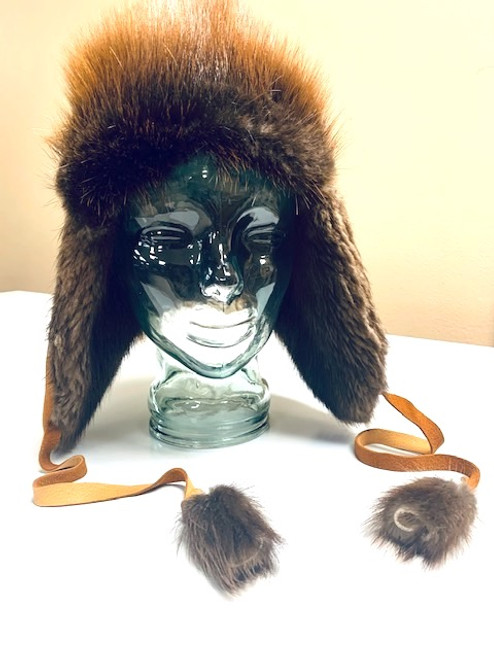 Beaver & Deer Hide Hat