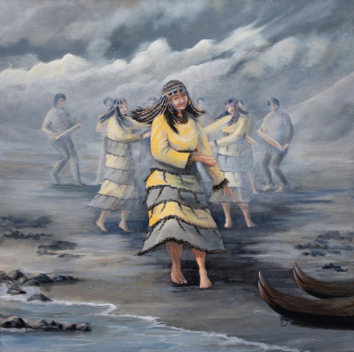 Dancing with Wind Original Oil Painting Print (8x10)