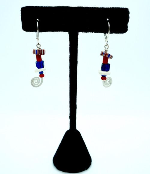 Petite Cobalt Blue Earrings