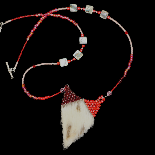 Beaded Seal Skin Necklace