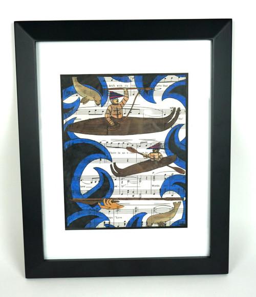 Seal Dance Framed Original Artwork