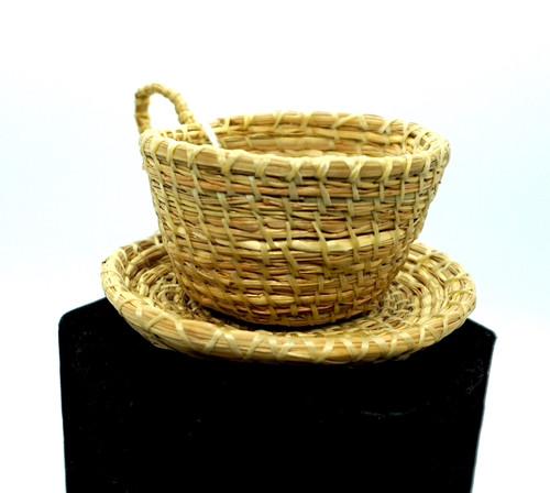 Hand Woven Rye Grass Teacup