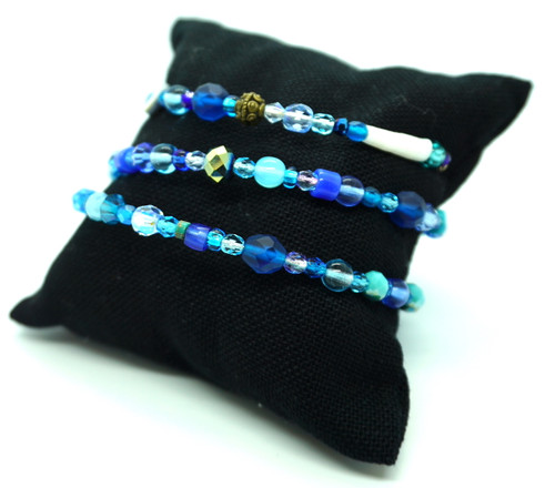 Detalium, Abalone & Glass Bracelet