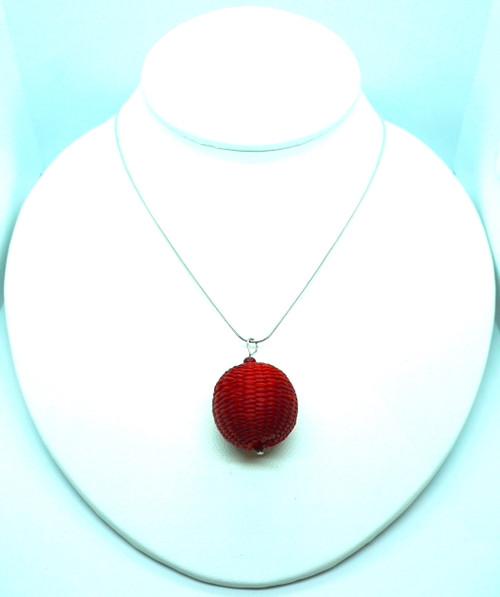 Woven Ball Necklace