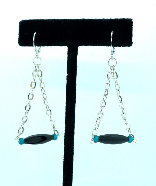 Black Chain Earrings