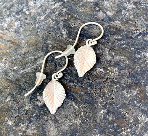 Silver Elm Leaf Earring