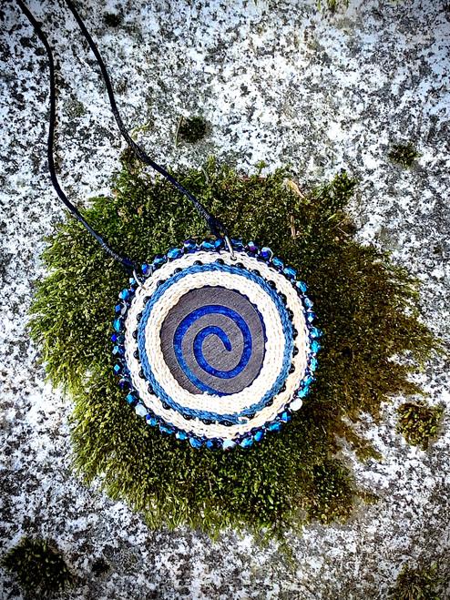 Woven Spiral Pendant