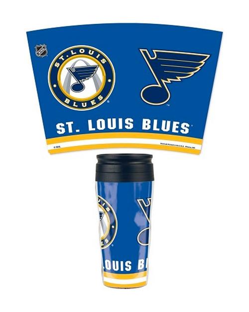 St. Louis Blues Travel Mug Contour 16oz
