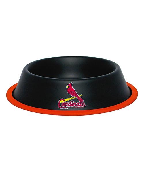 St. Louis Cardinals Dog Bowl - 24oz Black