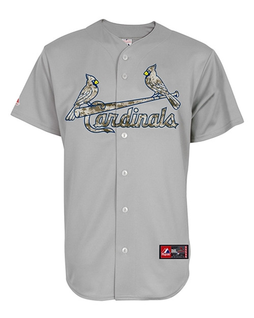 St. Louis Cardinals Authentic Camo On-Field Road Jersey
