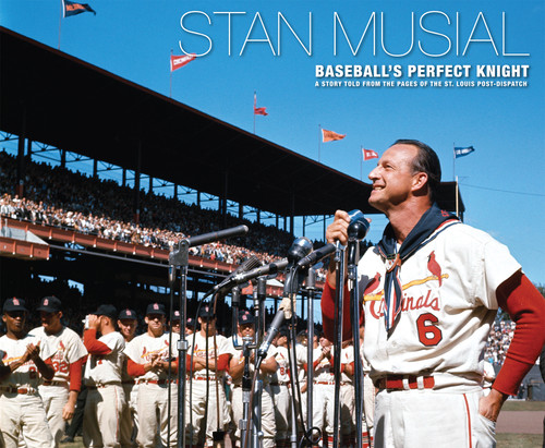 Stan Musial - Baseball's Perfect Knight; Revised Edition - Autographed holograph sticker