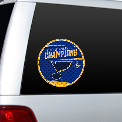 St. Louis Blues 2019 Stanley Cup Champions Large Window Cling