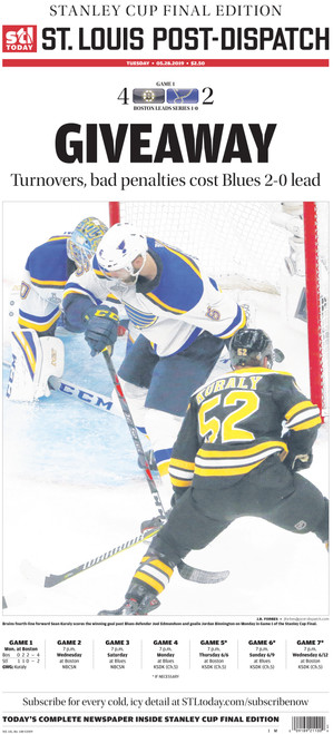 St. Louis Post-Dispatch Back Issue: May 28th Stanley Cup Final Preview Edition