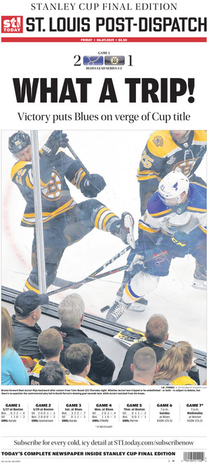 St. Louis Post-Dispatch Back Issue: June 7th Stanley Cup Final Preview Edition