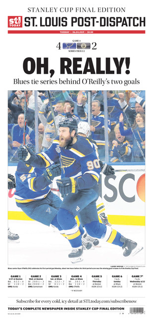St. Louis Post-Dispatch Back Issue: June 4 Stanley Cup Final Preview Edition