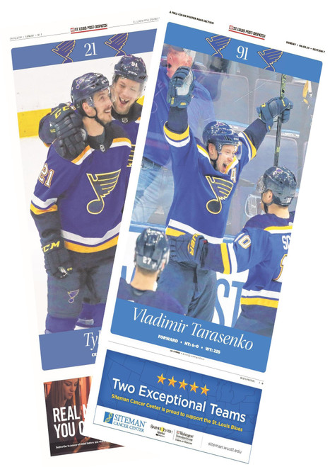 St. Louis Post-Dispatch Back Issue: June 2 Stanley Cup Final Edition and Poster Page Special Section