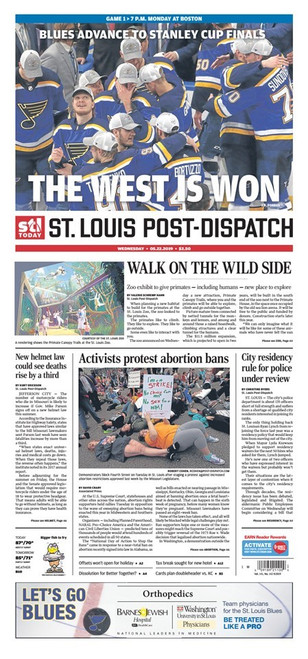 St. Louis Post-Dispatch Back Issue: May 22 Conference Champs – West is Won