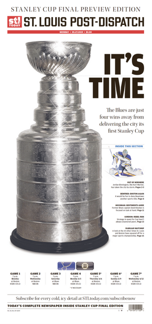 St. Louis Post-Dispatch Back Issue: May 27 Stanley Cup Final Preview Edition
