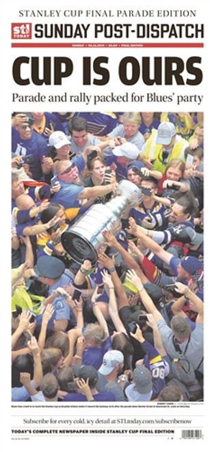 St. Louis Post-Dispatch Front Page Poster for June 16th Stanley Cup Parade Edition