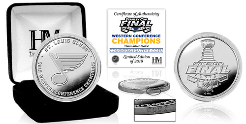 St. Louis Blues 2019 NHL Western Conference Champions Silver Coin