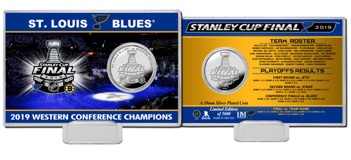St. Louis Blues 2019 Stanley Cup Final Silver Coin Card