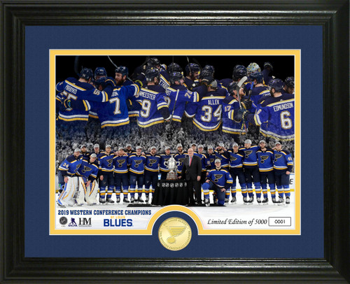 St. Louis Blues Western Conference Champions Bronze Coin Photo Mint