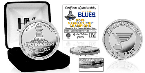 St. Louis Blues 2019 NHL Stanley Cup Champions 1oz .999 Proof Silver Coin