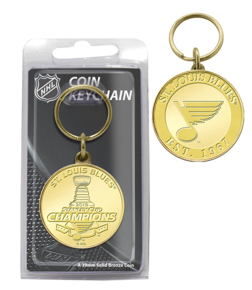St. Louis Blues 2019 Stanley Cup Champions Bronze Coin Keychain