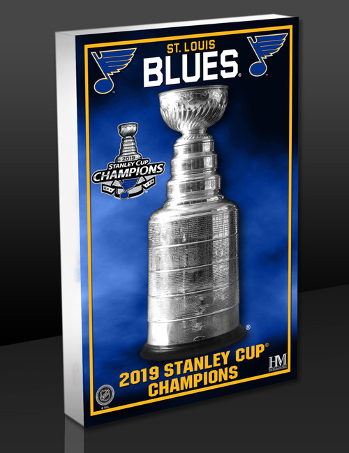 St. Louis Blues 2019 Stanley Cup Champions 3D Acrylic BlocKart