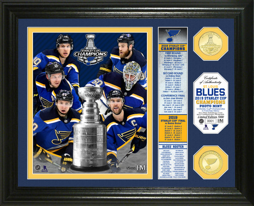 St. Louis Blues 2019 Stanley Cup Final Champions Banner Bronze Coin Photo Mint