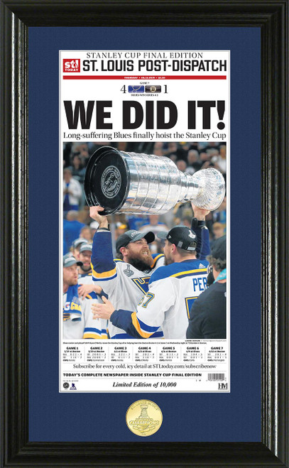 St. Louis Blues 2019 Stanley Cup Final Champions News Paper Bronze Coin Photo Mint