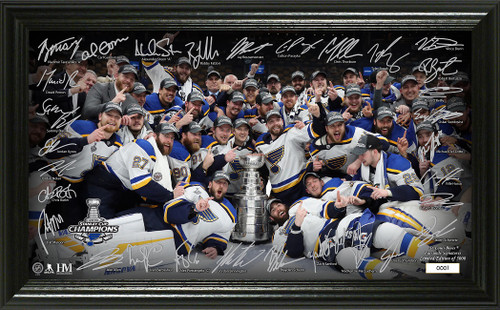 St. Louis Blues 2019 Stanley Cup Champions Signature Rink