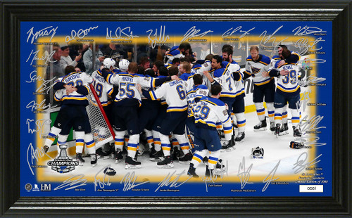 "St. Louis Blues 2019 Stanley Cup Champions ""Celebration"" Signature Rink"