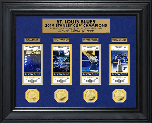 St. Louis Blues 2019 Stanley Cup Champions Deluxe Gold Coin & Ticket Collection