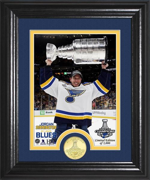 Jordan Binnington Stanley Cup Trophy Select Series Bronze Coin Photo Mint