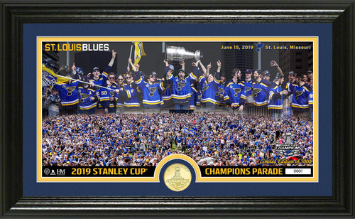 St. Louis Blues 2019 Stanley Cup Champions Parade Pano Bronze Coin Photo Mint