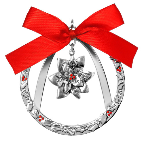 """""""Only in St. Louis"""" Holiday Ornaments - Arch with Poinsettia"""