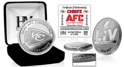 Kansas City Chiefs 2020 AFC Champs Silver Mint Coin