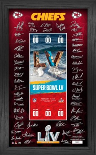 Kansas City Chiefs Super Bowl 55  Bound Signature Ticket Frame
